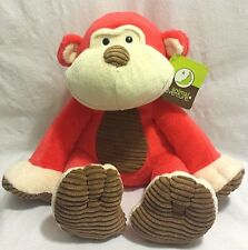 NEW Animal Adventure Monkey Coral Brown Corduroy Plush Stuffed Animal Toy 2015