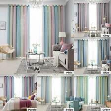 Gradient Hollow Star Curtain Bedroom Full Blackout Window Drapes Home Decor New