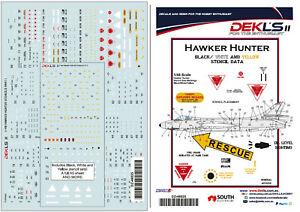 1/48 Hawker Hunter - Stencil Data Decals DEK L's II