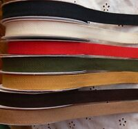 Textured TWILL Ribbon 3 & 5 Metre Lengths 10mm Wide 7 Colour Choice BRD11