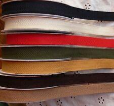 Textured TWILL Ribbon 3 & 5 Metre Lengths 10mm Wide 7 Colour Choice BRD11