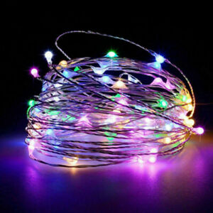 LED Lichterkette Batterie 20/50/100 Micro Draht Außen Innen Kaltes warmweiß