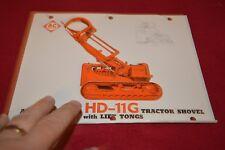 Allis Chalmers HD-11G Crawler Tractor Loader Dealer's Brochure YABE14 ver33