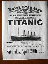 "(806) VINTAGE REPRINT ADVERT TITANIC SHIP WHITE STAR LINE ROYAL STEAMER 11""x14"""