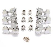 502C Grover Chrome Locking Guitar Tuners 3+3 Tuning Ratio 18:1