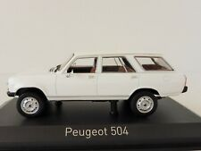 Peugeot 504 Break Dangel 1980 1/43 Norev (alaska White)