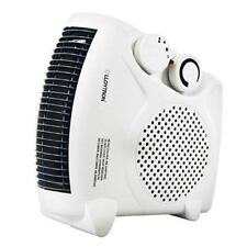 2000w Fan Heater with 2 Heat Settings & Cool Blow Thermostat Electric Flat Small
