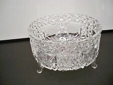 large daisy and button clear pressed bowl
