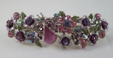 Kirks Folly Ladybug Barrette - Lovely shades of purple and pink - Silvertone