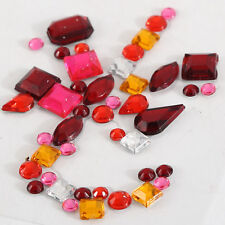 CraftbuddyUS 1pc X 2in Xmas Cane Design Diamante Self Adhesive Rhinestone Gems