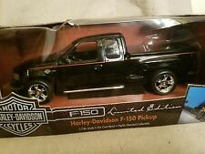 1/18th scale  American Muscle black Ford F-150 Harley Davidson Pickup Truck.