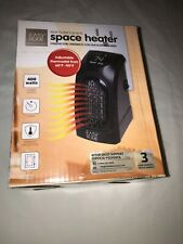 Easy Home Wall Outlet Ceramic Space Heater 400 watts Black