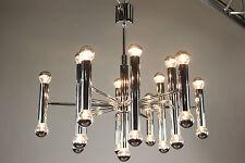 Gaetano Sciolari Design Chandelier Mid Century Modern 25 light Steel Chrome VTG