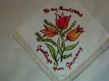 To My Sweetheart Greetings From Germany Hanky Vintage Hankies Handkerchief