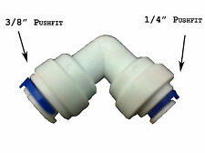 """Pushfit Elbow Reducer For 10mm Water Pipe to 6mm Pipe Tubing , 3/8"""" x 1/4"""" , RO"""