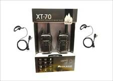 MIDLAND XT70 NEW DESIGN PACK WITH 2 WALKIE TALKIES + HEADSETS + CHARGER KIT