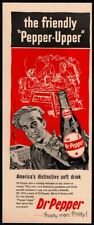 1957 DR. PEPPER Soda - Man Cooking on Grill- BBQ - Bottle - Retro VINTAGE AD