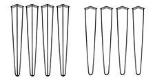 Forcina Gamba Tavolo Set da duraturo arrotolato acciaio per supportare pesante