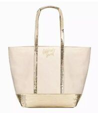 Victorias Secret Ivory White Gold Sequin Tote Bag - NWT $58.00 MSRP