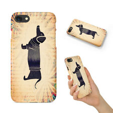 DACHSHUND WATERCOLOR ART BACK HARD CASE COVER FOR APPLE IPHONE