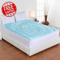 King Size Foam Mattress Topper 3 Inch Gel Orthopedic Pad Cover Memory Bedding