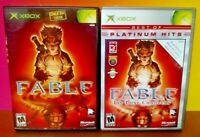 Fable 1 + Fable Lost Chapters - Microsoft Xbox OG Game Rare Tested