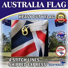 Australia Flag Heavy Duty Woven Australian Flag Brass Clips  SHIPPED EXPRESS