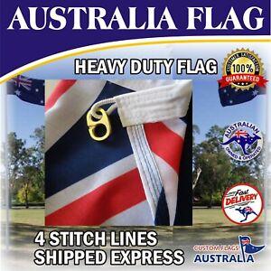 Australia Flag Heavy Duty Woven Australian Flag Brass Clips  *SHIPPED EXPRESS*