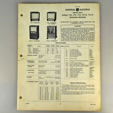 General Electric Service Data Sheet Televisions 17T4 17T5 17T6 17C112 17C114