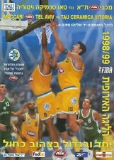 BASKETBALL CHAMPIONS LEAGUE MACCABI ISRAEL - TAO SPAIN 1999 OFFICIAL PROGRAM