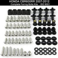 Complete Fairing Bolt Kit Body Screws for Honda CBR 600 RR 2007-2012 Stainless
