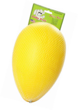 Jolly Pets Egg Plastic Ball for Pets Yellow 12 Inches