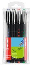 STABILO Bl@ck Bionic penne a sfera ergonomica LISCIO scrittura Asst Colori x 4