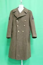 WWII US Army Cold Weather Wool Trench Coat 38 R