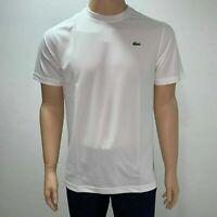 Lacoste Mens Sport Breathable Tennis T shirt 2XL Fr 7 3XL Fr 8 4XL Fr 9 White