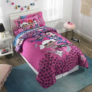 LOL Surprise Kid Bedding Set Full Size Bed-In-A-Bag Comforter Pillow Case Sheet
