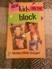 Vintage New Kids On The Block Paperback Book 1989 With Pictures