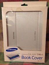 """Samsung GALAXY TAB 3 BOOK COVER & STAND 10.1"""" - White ~ SHIPS IN 24"""