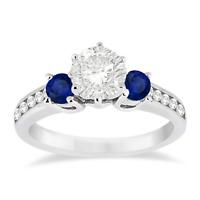 925 Silver Jewelry Round Cut White Sapphire Fashion Women Wedding Ring Size 6-10