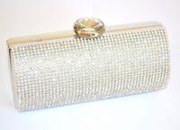 SAC pochette femme argent cristal cérémonie clutch bag  élégant  de soirée 820A
