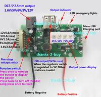 DC3.7V Step Up to 5V 9V 12V 2A USB Lithium Battery Charger Board Boost Converter