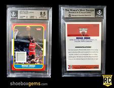2007 Fleer Michael Jordan 1986 RC Reprint White Jersey BGS 8.5+ JSY MEM