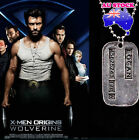 Wolverine Logan Military Necklace X-Men Dog Tag 50cm chain | Brushed Steel