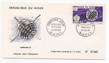 1966 NIGER First Day Cover FRENCH SPACE VEHICLES SG223 Satelitte