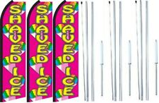Shaved Ice King Size Full Sleeves Windless  Swooper Flag