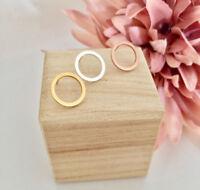 Damen Ohrringe Open Circle Ohrstecker Rund Kreis Hollow Gold Silber Rosegold NEU