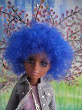 Afro Wig  14 cm fits, Moxie Teenz , Liv  Doll Electric Blue