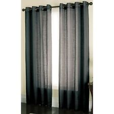 "84"" L x 52"" W Onyx Loudon Sheer Curtain - One Panel"