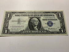 USA 1 Dollar 1957 Silver Certificate One Banknote STAR NOTE