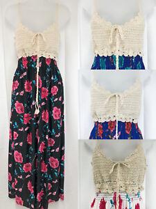 Woman Summer Floral Long Sleeveless Dress #1034